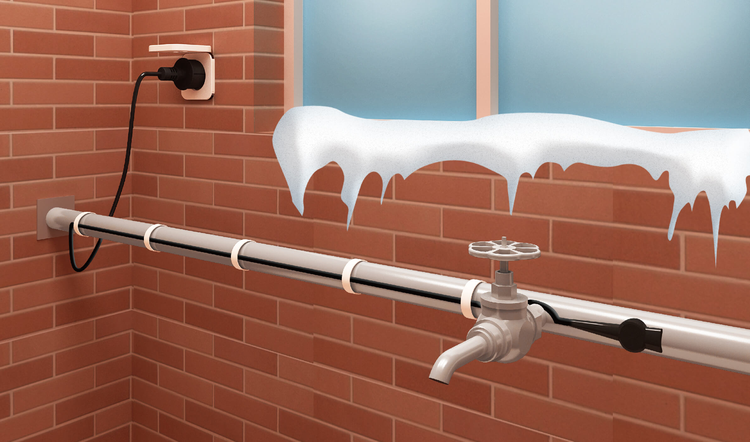 Pipe heat Tracing