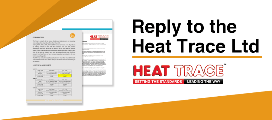 Reply to the Heat Trace Ltd