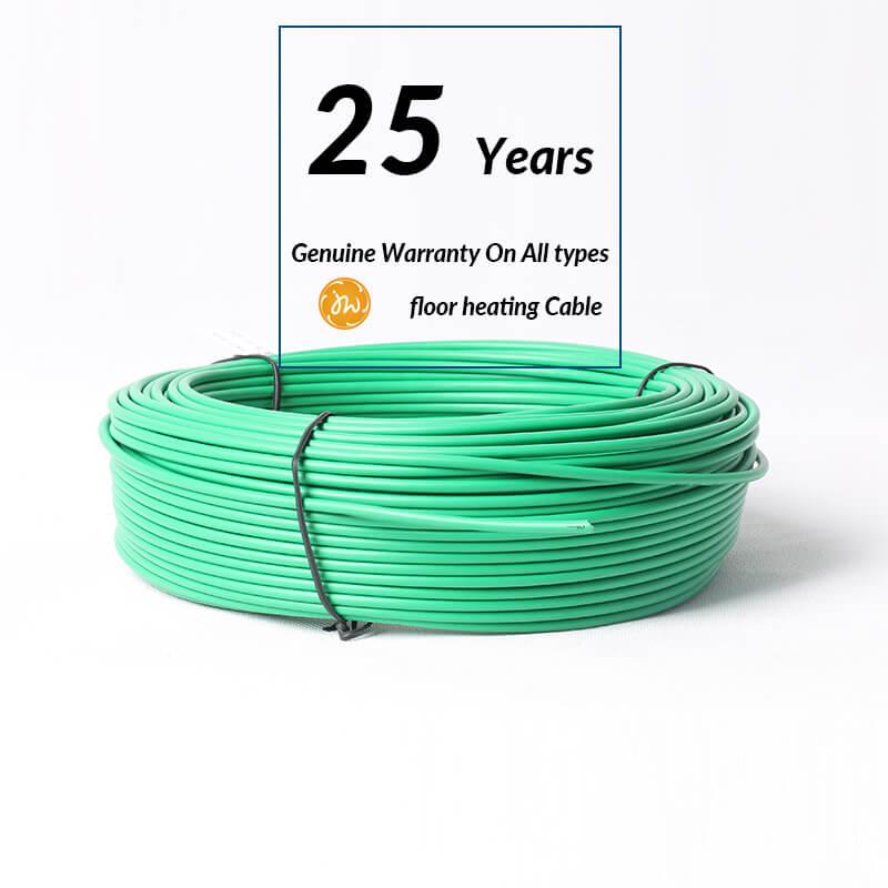 25 Years Warranty - Floor heating cable