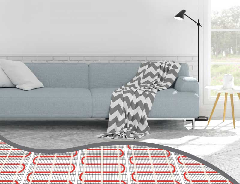 Electric UFH Living Room