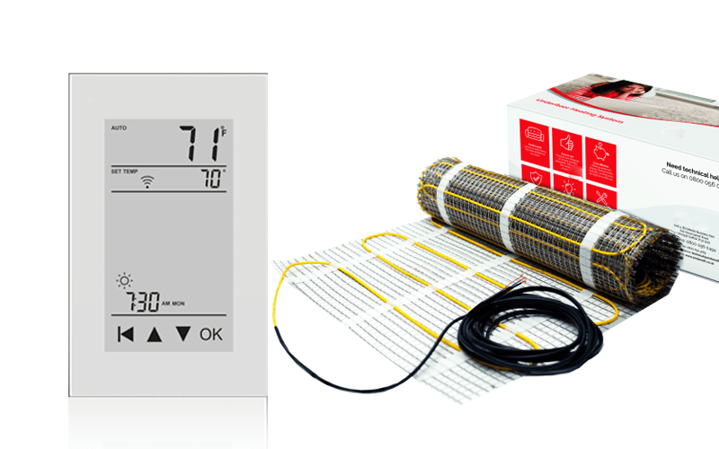 Thermostat and Floor heating mat
