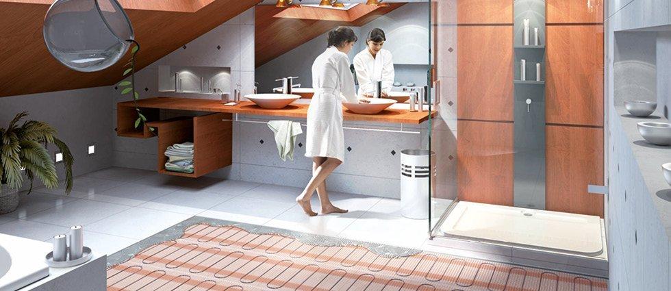 underfloor heating bathroom