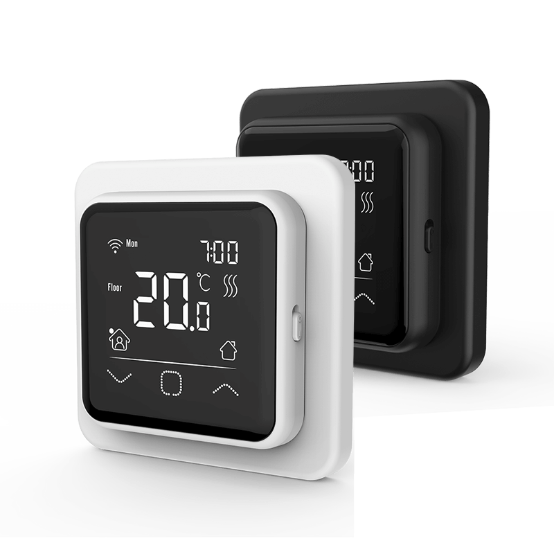 white & Black heating thermostat
