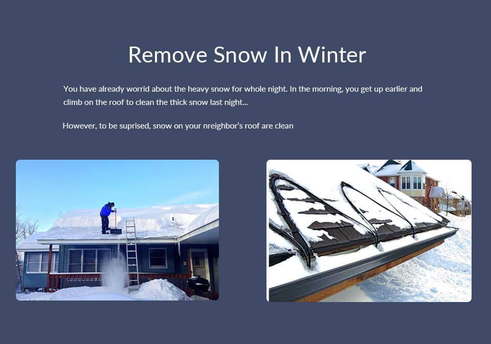 Remove Snow By heating cable or By yourself
