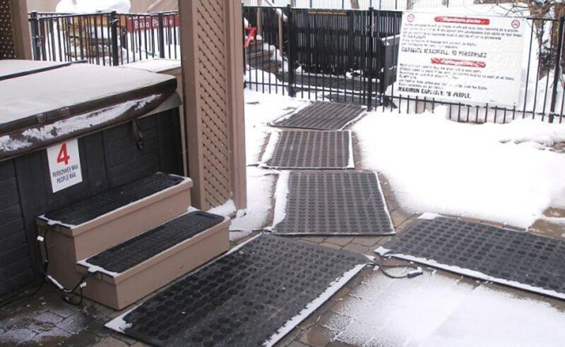 Snow Melting Mat Application