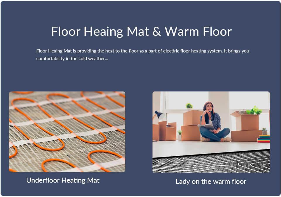 Floor heating mat and Warm floor