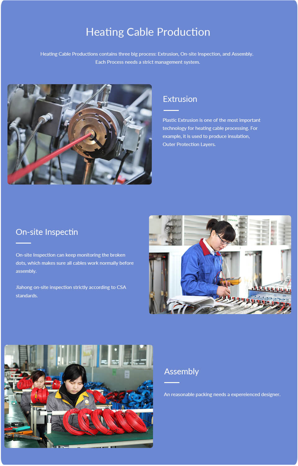Heating Cable Production
