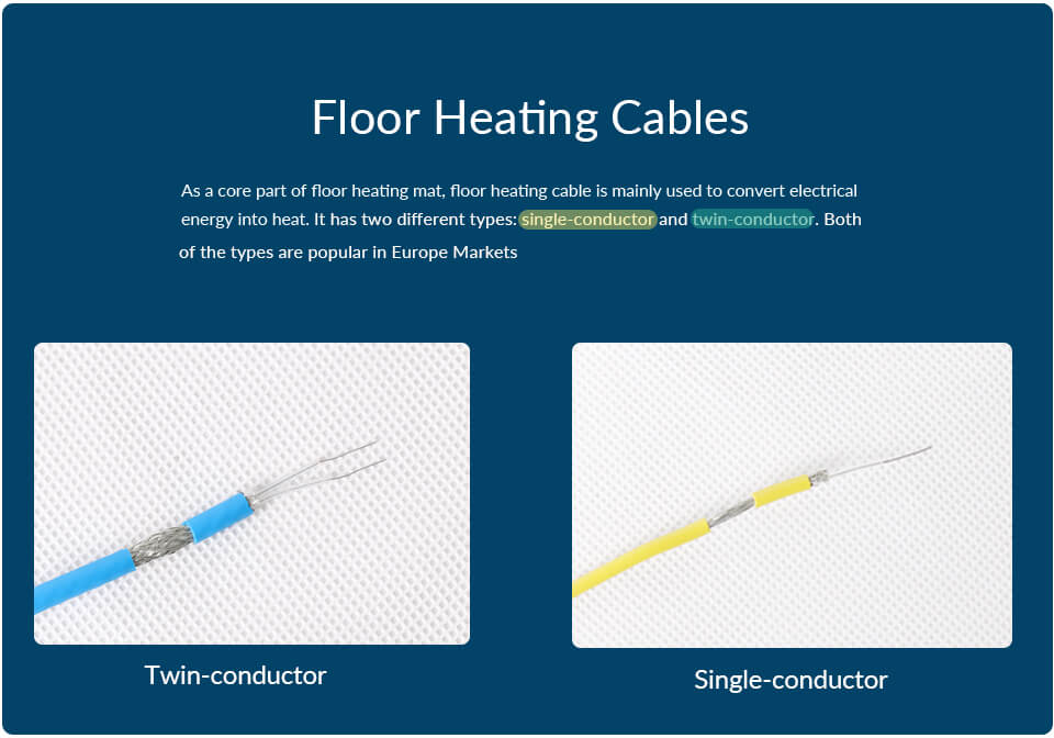 Two Types of Floor Heating Cable