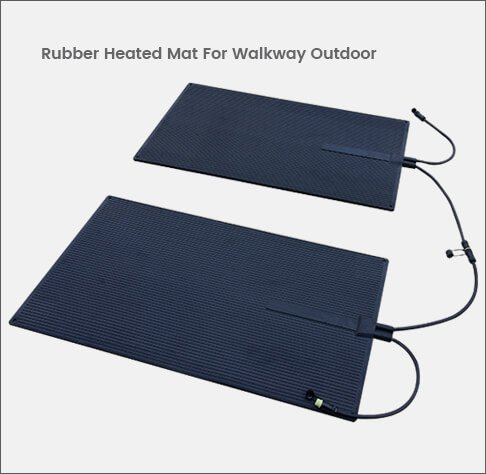 Rubber Heated Mat For Walkway Outdoor