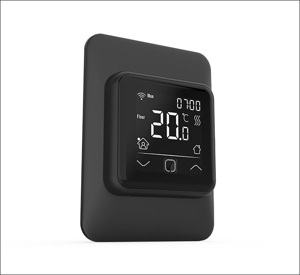 Smart Thermostat With Vertical Frame Black