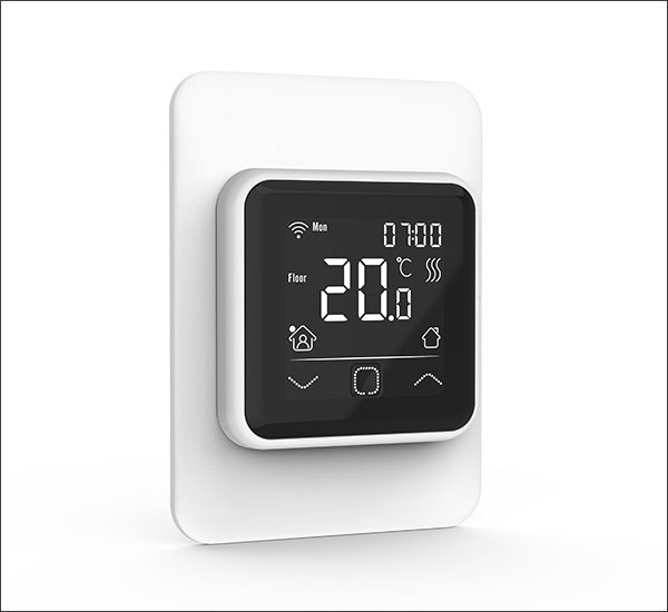 Smart Thermostat With Vertical Frame White